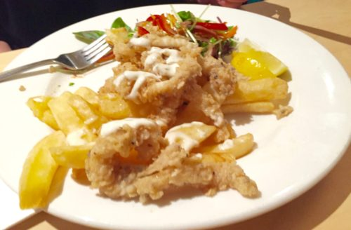 Pub food salt and pepper squid
