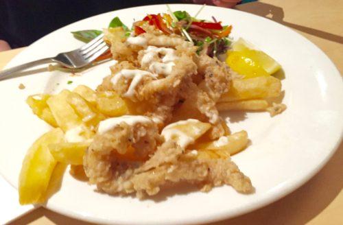 Pub food salt and pepper squid