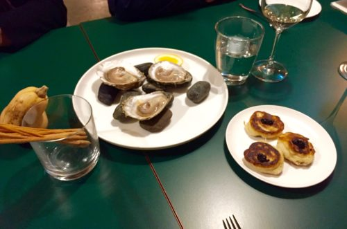 Fico restaurant oysters blinis