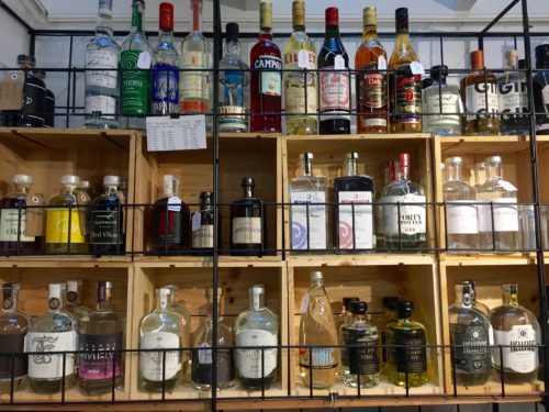 Not just wine, top shelf is there too
